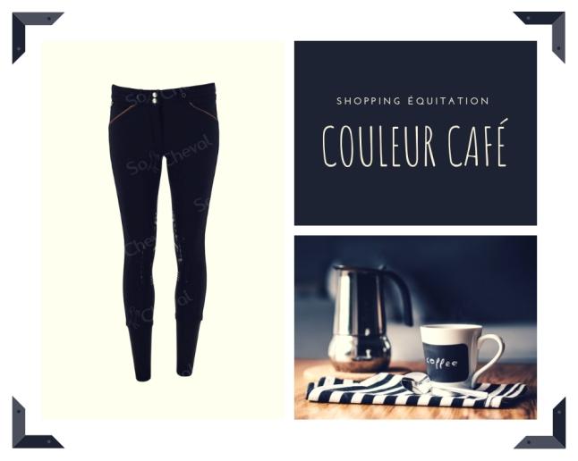 shopping équitation pantalons couleur café
